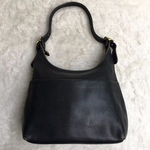 Vintage Coach Legacy Black Leather Shoulder Bag